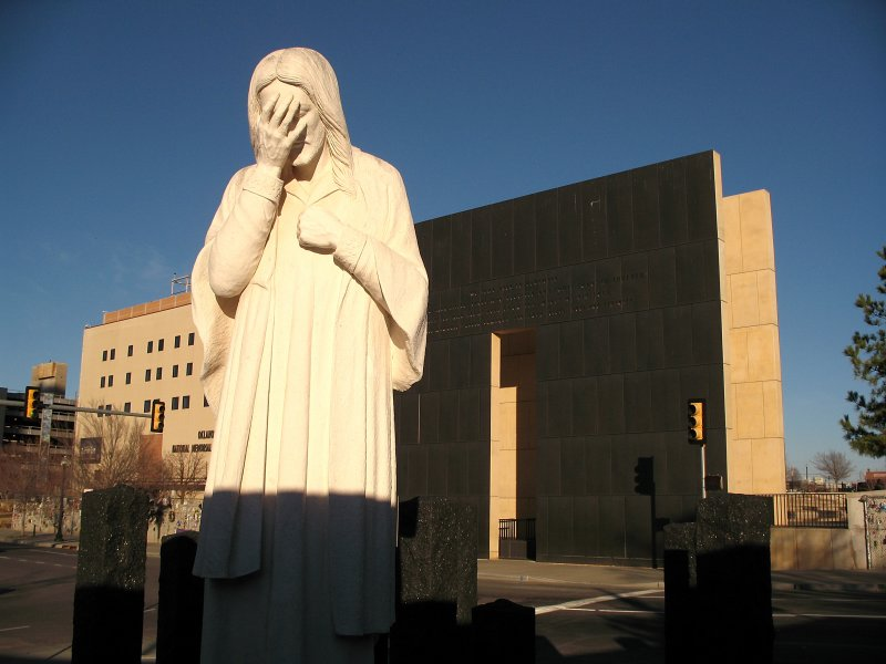 And Jesus Wept sculpture
