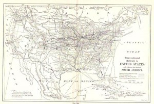 transcontinental railroad map