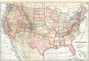 Maps Us Map Borders Map Of Usa And Canada Border Map Of Usa And - Us map high resolution